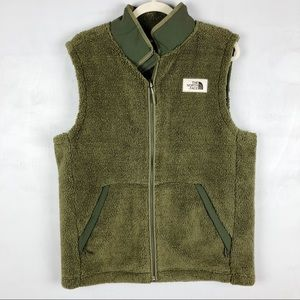The North Face Men's Campshire Vest Green Fuzzy